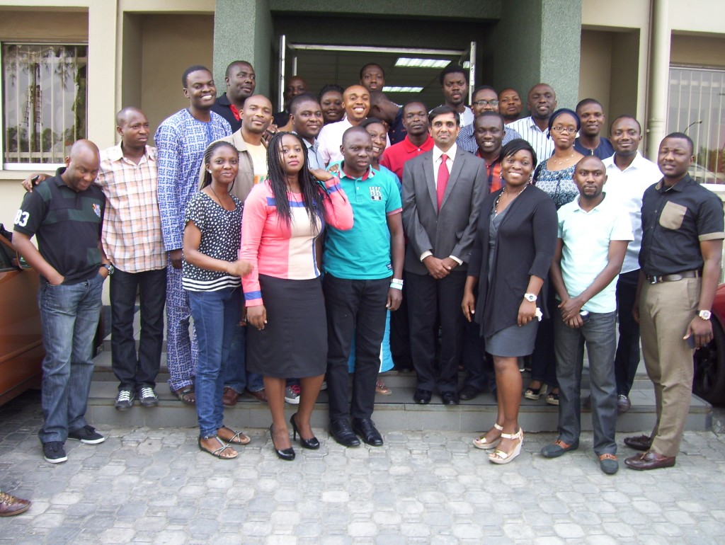 Group photo of team for Project Management Workshop for a leading Bank in Lagos Nigeria